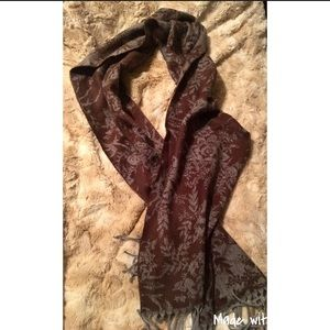 Soft Brown and Gray Printed Scarf